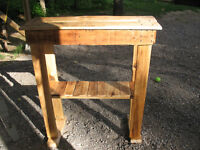Table console en bois
