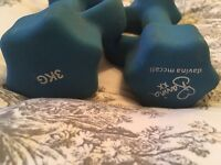 3kg Davina McCall weights dumbells