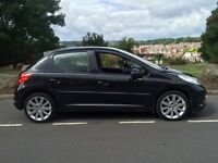 2006 56 Peugeot 207 Gt 1.6 Hdi 110 5 door hatch # pan Roof # half leather # cheap tax + insurance!