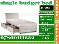 Single / Double / King Sizes base with Mattess / Bedding