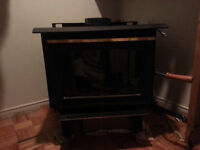 Used wood fireplace
