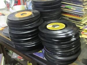 BOXES OF 1960s to 1980s 45 RPM VINYL RECORDS $1.00 EACH !