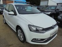 2015 15 VOLKSWAGEN POLO 1.0 SE 5DR 60 BHP FINANCE WITH NO DEPOSIT AND NOTHING TO