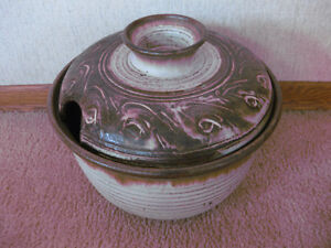 LARGE POTTERY SOUP TUREEN OR PUNCH BOWL WITH LID