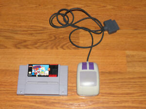 Mario Paint SNES Game with Mouse Super Nintendo