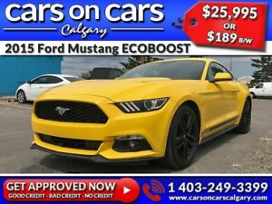 2015 Ford Mustang ECOBOOST w/Custom Exhaust, BackUp Cam, USB Con