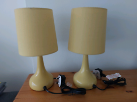 2 x Mustard Touch Lamps