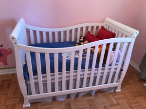 Convertible Crib and Mattress available for sale