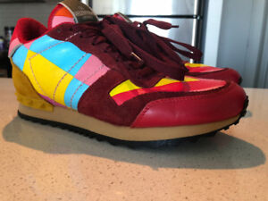 Valentino Garavani Leather and Suede multicolored trainers