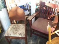 Chair sale priced to move fast $5.00 each or $5.00 for the set