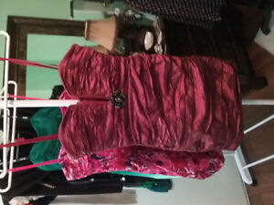 Brand new BCBG prom dress size 4, beautiful red wine color.