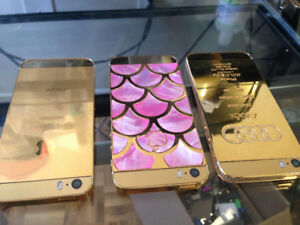 3x iPhone 5S 16GB Gold Plated Edition phones - $380.00 for all