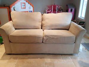 Off white Microfiber pullout couch