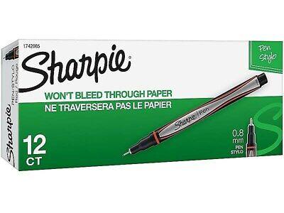 Sharpie Felt Pens Fine Point Red Ink Dozen 1742665 741187