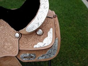 "12"" 13""  Kids Western Pony Leather Youth Saddle Silver Show New London Ontario image 2"
