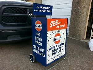 Incredible Gulf Gas Station Windsheild Wiper Cabinet  Oil, Gas