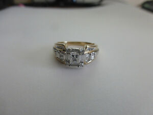 14KT Yellow & White Gold Engagement Ring with appraisal