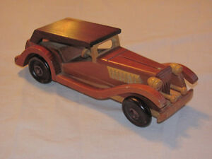 Hand-crafted Wooden Highly Detailed '30s Roadster model Edmonton Edmonton Area image 2