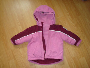 24m Girls Dual Winter/Fall Coat with Detachable fleece Jacket