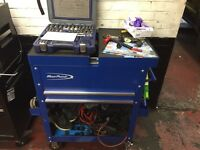 Blue point tool box and tools