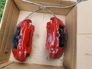 PORSCHE 986 BREMBO CALIPERS, APIKOL ADAPTER , ECS 2 PIECE ROTORS