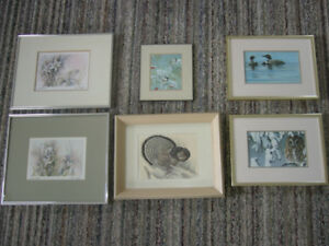 4 bird & 2 Floral Pictures Lot-ALL FOR $10.00 TOTAL