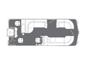 2019 Manitou Oasis Angler 22 Full Front Twin Tube