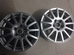 4/ VW GOLF ALUMINUM RIMS FOR SALE, NO CENTER CUPS