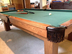 Hardwood Pool & PingPong Table w/Accessories