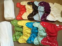 Peachybaby (by amp) cloth diaper lot