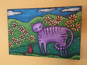 Original Cat painting by Shano