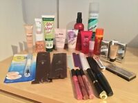 Selection of Make-up, Skincare, Hair and Beauty products.
