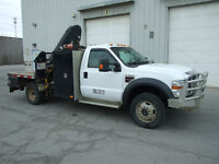 2008 Ford F550 XLT - Service/Picker Body with Crane/Winch