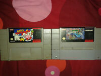 Jeux de super nintendo / snes ,kirby dream course, TMNT turlte