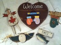 Welcome door sign $5