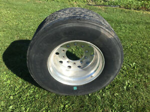 Super Single Drive Tires and rims