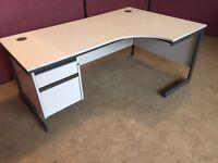 Grey 1600 corner office desk