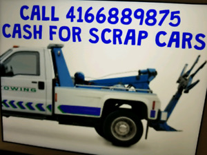 CALL 4166889875 TOP DOLLAR FOR SCRAP CARS&USED CARS4166889875