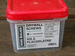 "20.4 lbs/9.3 kg #7 2 1/2"" fine drywall screws."