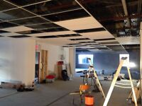 Commercial and residential drop / suspended / T-bar ceiling