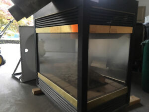 3 sided gas fireplace - perfect working - Best Offer !!