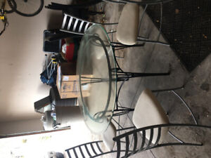 Glass top kitchen table