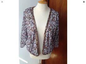 14-16 OLIVE AND OLIVIA Boho Style short Kimono jacket new With Tags