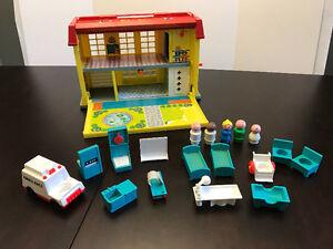 Vintage Fisher Price Little People Hospital set!