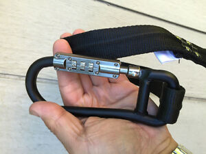 LOCK, CARABINER, With combination