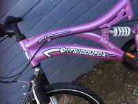 Girls muddy fox VIP mountain bike 20inch 14 frame
