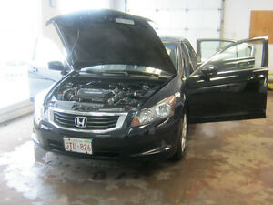 2008 Honda Accord Black leather Sedan