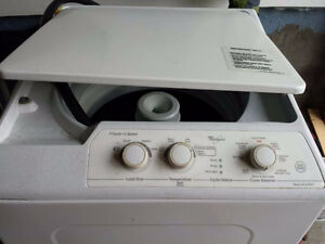 Whirlpool apartment size washer sale as it is