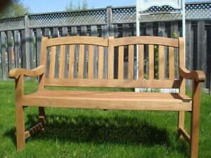 GARDEN SEAT NEW SOLID MAHOGANY -PRICE REDUCED