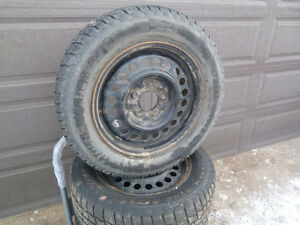 4 215/60R15 COOPER Weather Master S/T2 Tires on Steel Rims